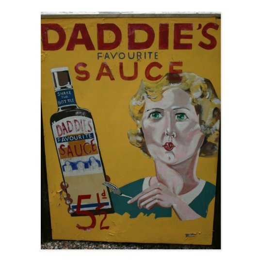 Daddie's sauce vintage advertising poster postcard