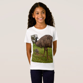 Daddy And Baby Emus Going For A Walk, T-Shirt