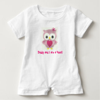 Daddy and I are a Hoot Personalized Owl Romper