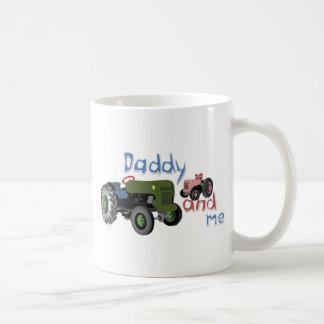 Daddy and Me Girl Tractors Basic White Mug