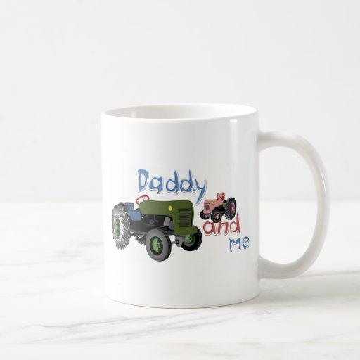 Daddy and Me Girl Tractors Mug