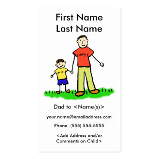 Daddy and Son Custom Photo Calling Playdate Cards Business Card
