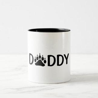 Daddy Black Bear Paw Two-Tone Coffee Mug