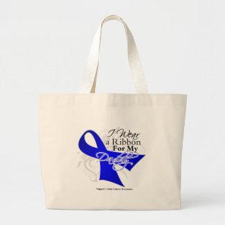 Daddy Blue Ribbon - Colon Cancer Canvas Bag