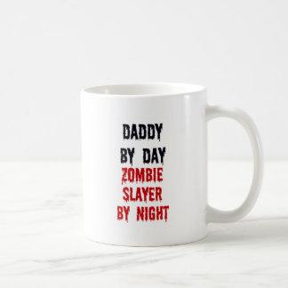 Daddy By Day Zombie Slayer By Night Basic White Mug