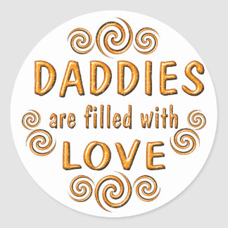 Daddy Classic Round Sticker