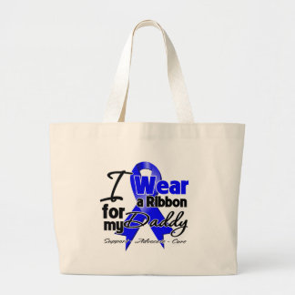 Daddy - Colon Cancer Ribbon Tote Bags