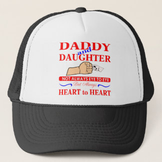 Daddy & Daughter Not Always Eye To Eye But Always Trucker Hat