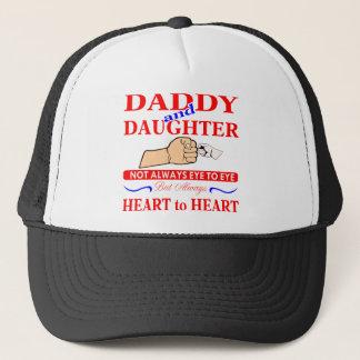 Daddy & Daughter Not Always Eye To Eye But Always Trucker Hat