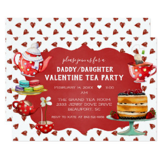 Daddy/Daughter Valentine Tea Party Card