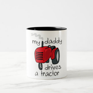 Daddy Drives A Tractor Two-Tone Coffee Mug