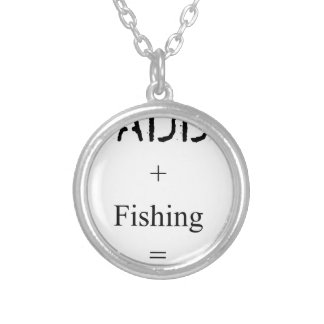 Daddy + Fishing = Love Silver Plated Necklace