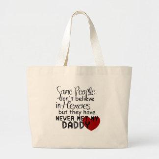 Daddy Hero Large Tote Bag