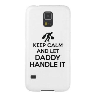 Daddy Keep calm tshirts Case For Galaxy S5