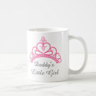 Daddy Little Girl, Chic Pink Princess Tiara Coffee Mug