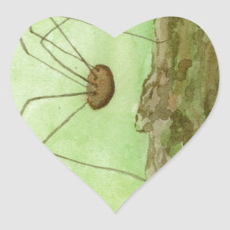 Daddy Long Legs Heart Sticker