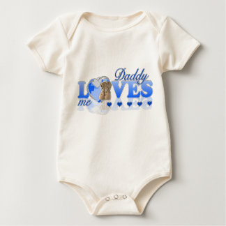 Daddy loves me(blue) baby bodysuit