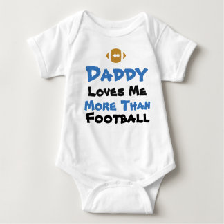 Daddy Loves Me More than Football Baby Bodysuit