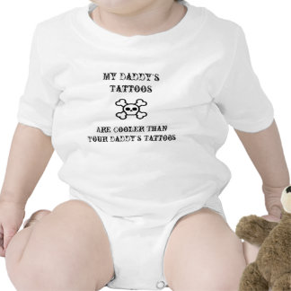 daddy s tattoos baby bodysuit