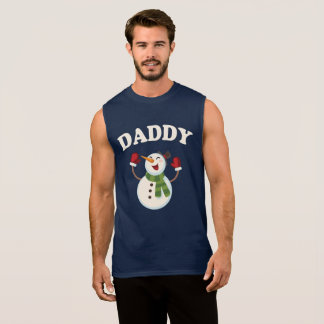Daddy Snowman T-shirt Pajama Family Matching Gift