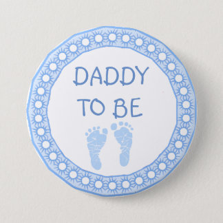 Daddy to be Blue Boy Baby Shower button