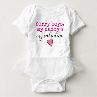daddy valentine baby bodysuit