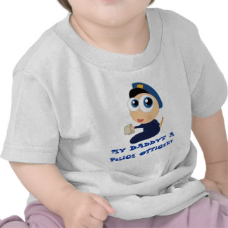 Daddy's A Police Officer Baby T-shirt