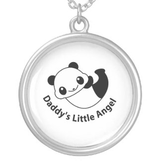 Daddys angel2 silver plated necklace