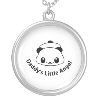 Daddys angel Panda Silver Plated Necklace