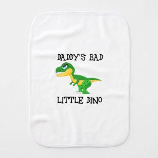 daddy's bad little dino burp cloth