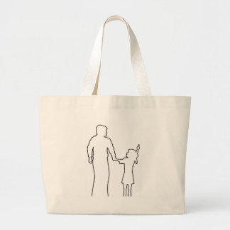 Daddys Bedtime Stories children teens young adult Large Tote Bag