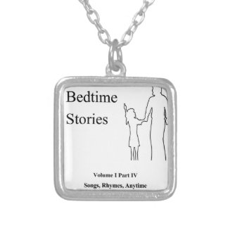 Daddys Bedtime Stories Silver Plated Necklace