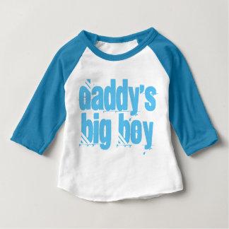 Daddy's Big Boy Typography Baby T-Shirt