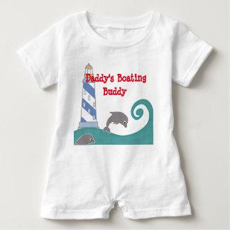 Daddy's Boating Buddy Baby Romper