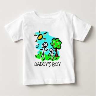 Daddy's Boy Stick Figure Baby T-Shirt