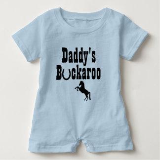 Daddy's Buckaroo Cowboy Themed Toddler Wear Baby Romper