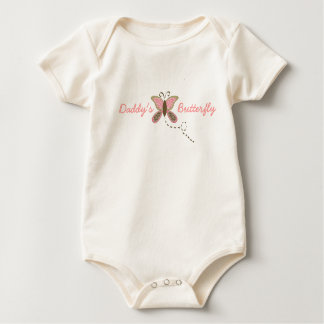 Daddy's Butterfly Infant Girl Organic Baby Bodysuit