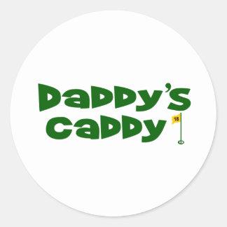 Daddy's Caddy 2 Classic Round Sticker