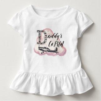 Daddy's Copilot, Toddler Tshirt, Airplane Kids Toddler T-shirt