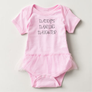Daddy's Dancing Daughter Baby Girl Tutu Outfit Baby Bodysuit