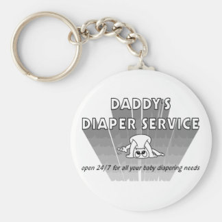 Daddy's Diaper Service Keychains
