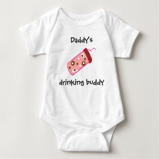"""Daddy's Drinking Buddy"" Play Suit Baby Bodysuit"