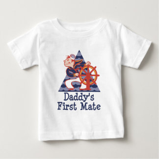 Daddy's First Mate Sailor Baby T-Shirt