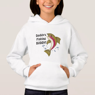 Daddy's Fishing buddy kids hoodie
