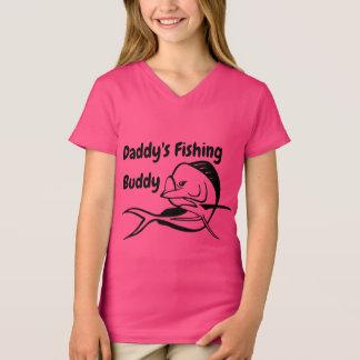 Daddy's Fishing Buddy- Mahi Girl's Fishing T-Shirt
