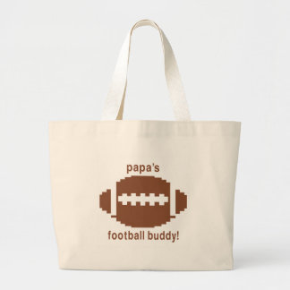 Daddy's Football Buddy Jumbo Tote Bag