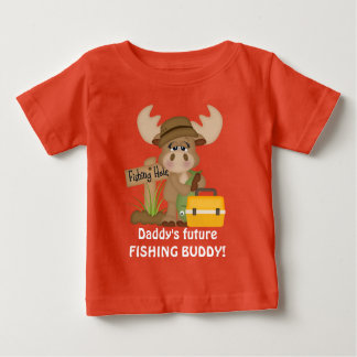 Daddy's future fishing buddy baby boy t-shirt