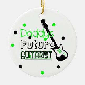 Daddys Future Guitarist Ceramic Ornament