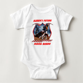 Daddy's future motocross riding buddy. baby bodysuit