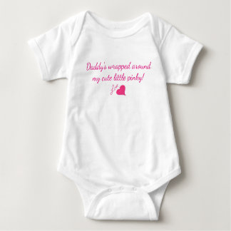 Daddy's Girl 3-snap Quick Change Outfit Cutsie Baby Bodysuit
